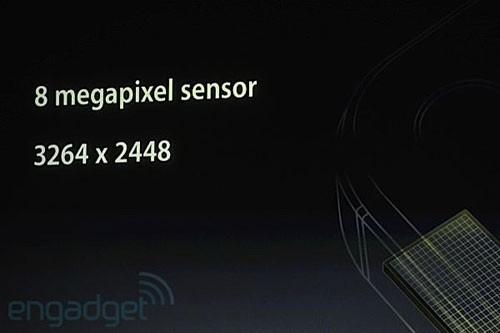 iPhone 4S将摄像头升级到800万像素