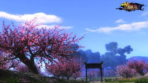 动漫风景桃花