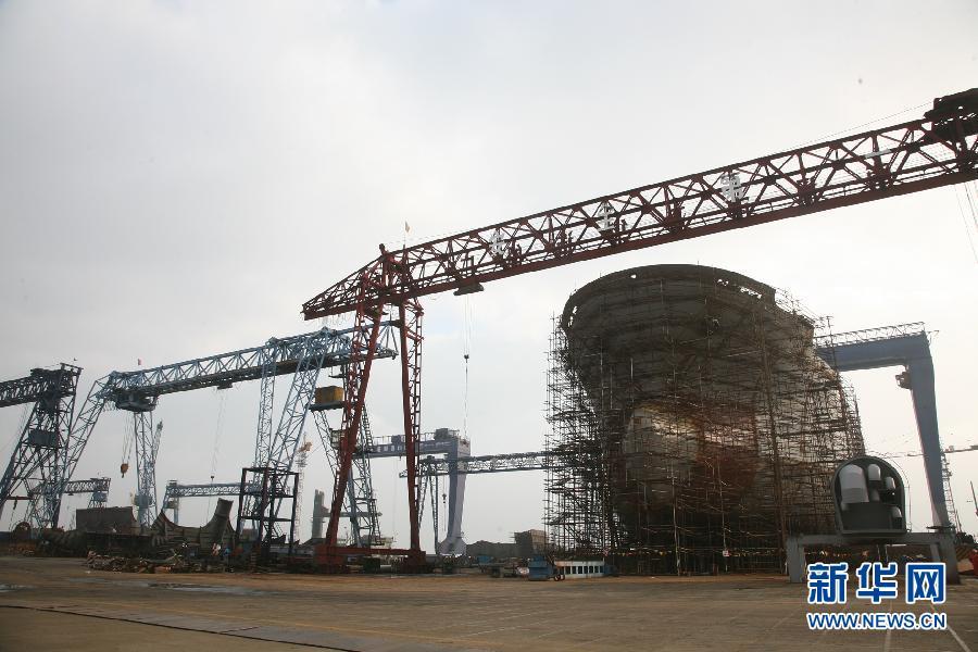 今年前三季度江苏南通造船产值超千亿