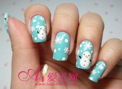 冬季雪人总是那么的讨人欢喜 教你在指甲DIY画小雪人