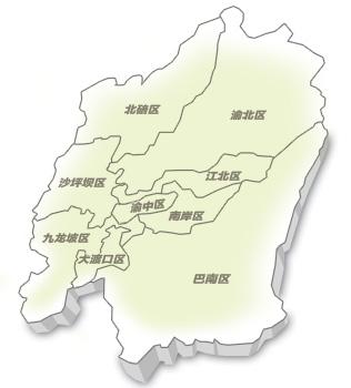 重庆主城商圈地图