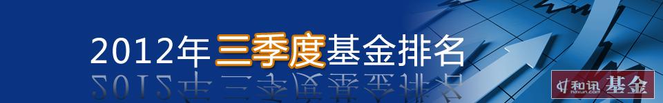 2012年三季度基金排名
