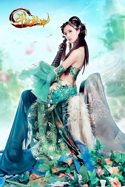 古代战场美女弹琵琶