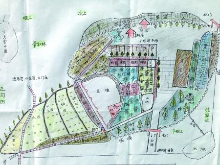 罗先生手绘的规划图 受访者供图