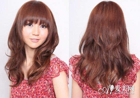 齐刘海卷发发型-日系卷发发型成潮流 轻松打造显萌态