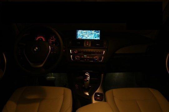 汽车 正文    宝马1系灯光:车内氛围灯是亮点  新宝马1系全系配备了