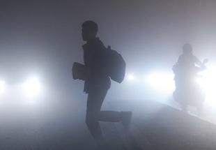 """上海夜晚雾霾加重 """"魔都""""变""""雾都"""""""