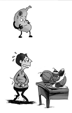 称体重暴食卡通图片