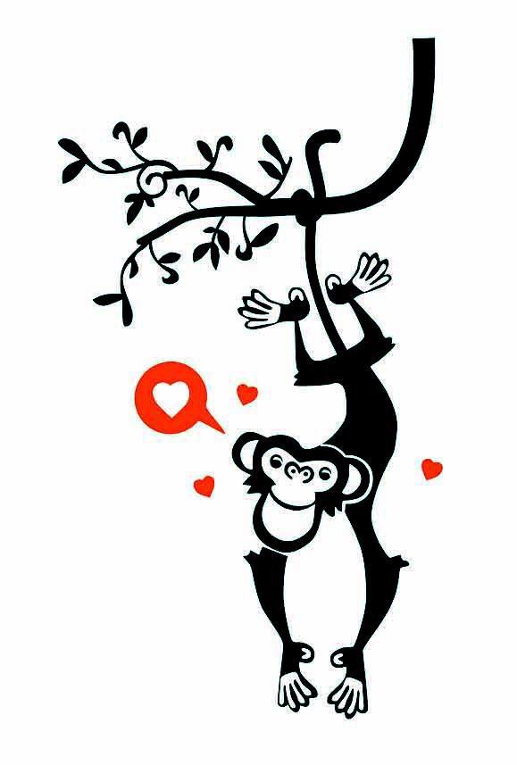母猴子头饰简笔画